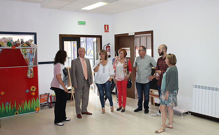 Moment de la visita del director general al centre educatiu