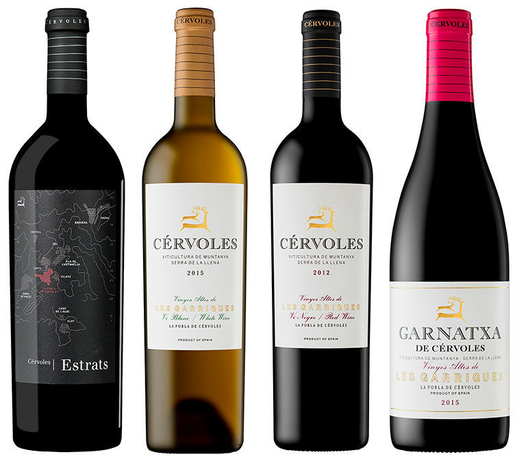 Cérvoles Celler - Vins premiats en el Catavinum World Wine & Spirits 2017
