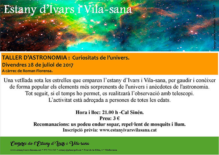 cartell nit d'astronomia estany texte 1