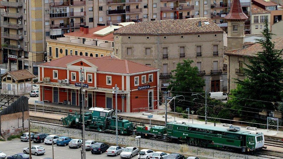 Imatge de l'estació de tren de Tàrrega