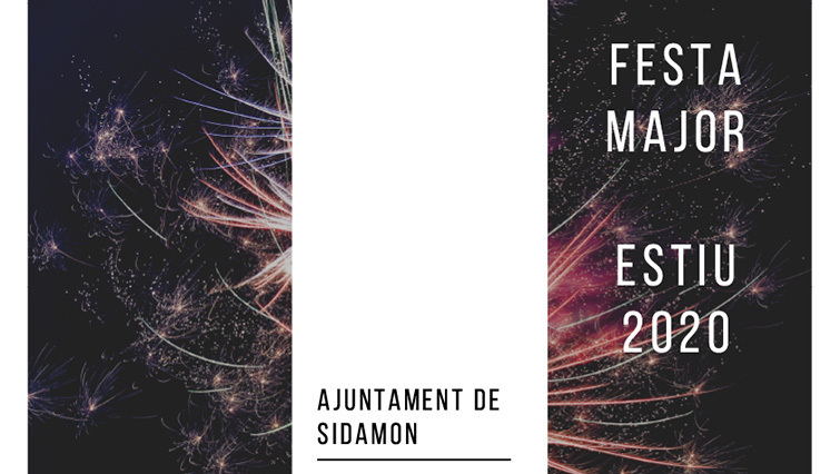 Programa de la  Festa Major 2020 a Sidamon