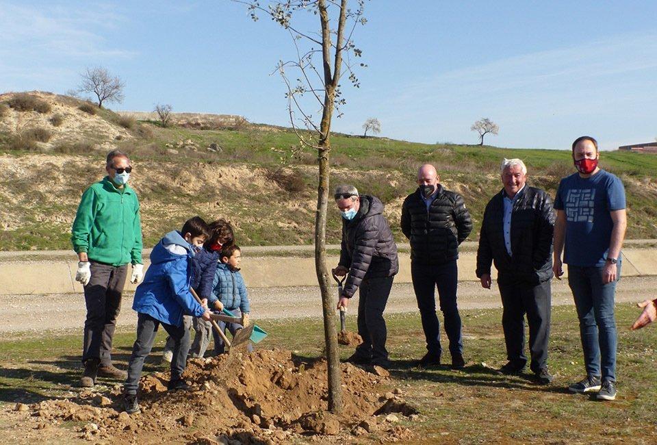 Plantada d'arbres a Castellserà amb Canal Viu  @CanalViu